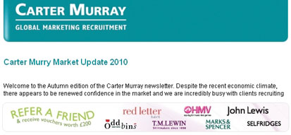 Carter Murray Recruitment Email Marketing