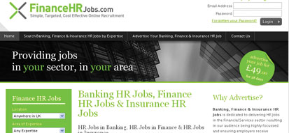 Finance HR Jobs Recruitment Website